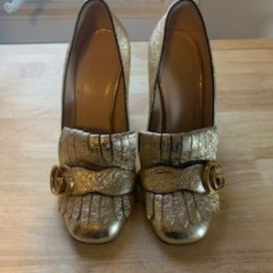 Gucci Marmont Heeled Loafer Size 6.5